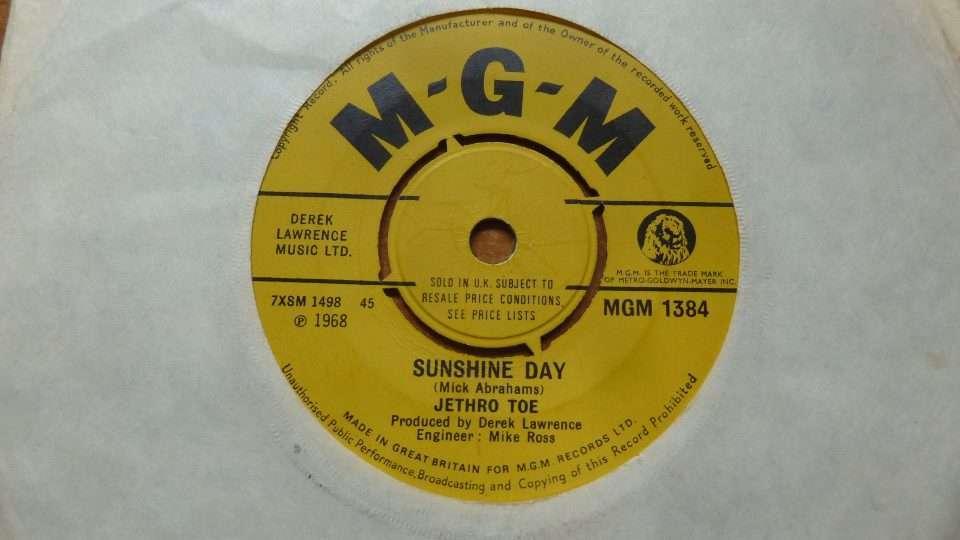 "Super rare Jethro Tull 7"" 45 from 1968 by 'Jethro Toe'"